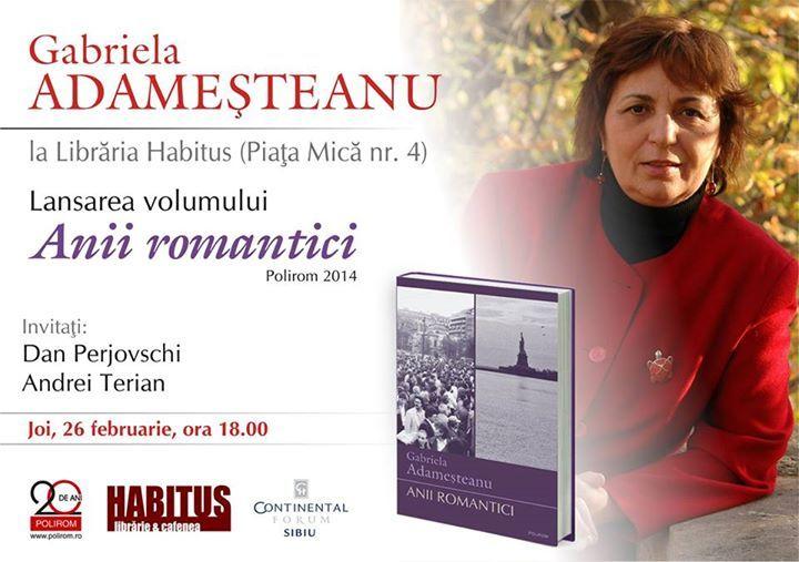 Gabriela Adameșteanu la Librăria Habitus din Sibiu