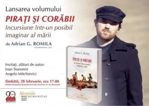 Adrian G. Romila povestește despre pirați și corăbii, la București