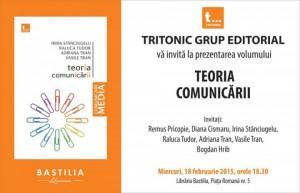 """Lansare: """"Teoria comunicării"""""""