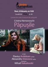 """CenaKLUb TIUK nr. 40, lansare de carte """"Păpușile"""" de Cristina Nemerovschi"""