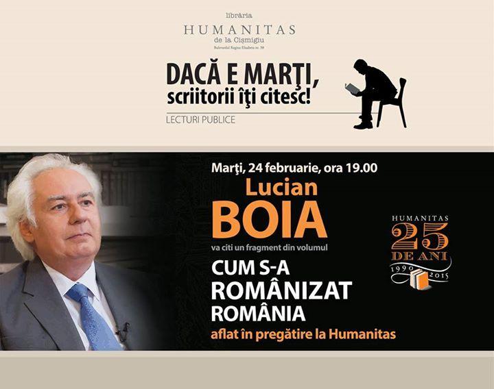 """Lucian Boia, lectură în premieră din volumul """"Cum s-a românizat România"""""""