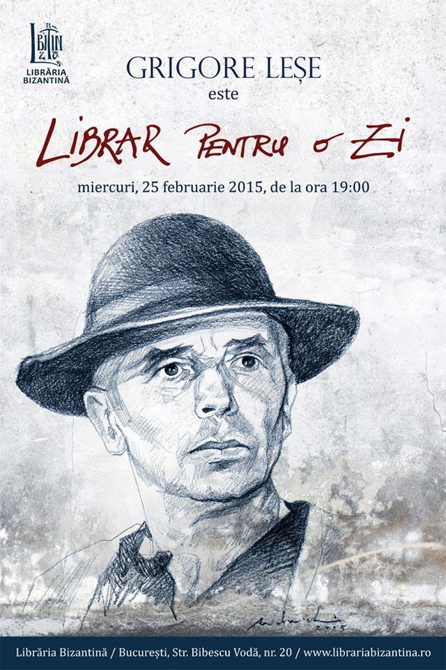 Librar pentru o zi, ediția nr. 10, invitat: Grigore Leșe