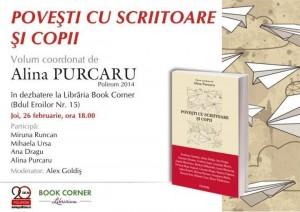 """""""Povești cu scriitoare și copii"""" la Libraria Book Corner din Cluj"""
