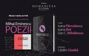 """Lansare de carte și audiobook, Mihai Eminescu, """"Poezii"""""""