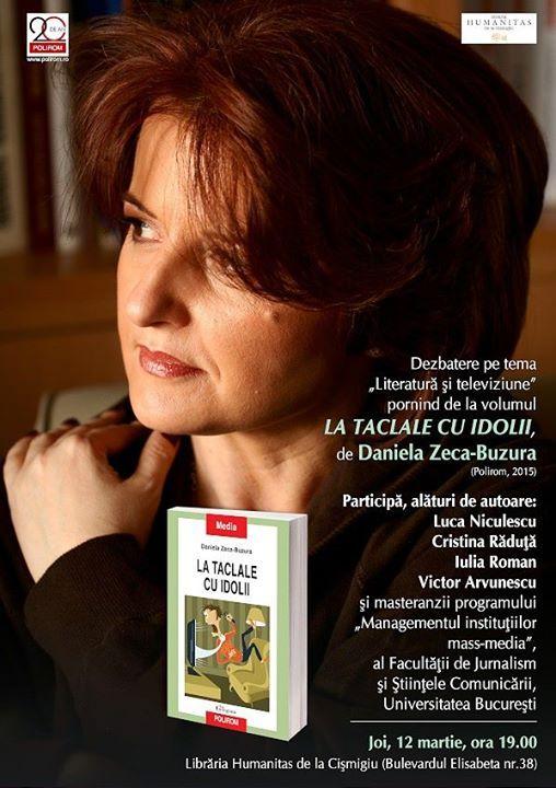 Despre literatură și televiziune cu Daniela Zeca-Buzura