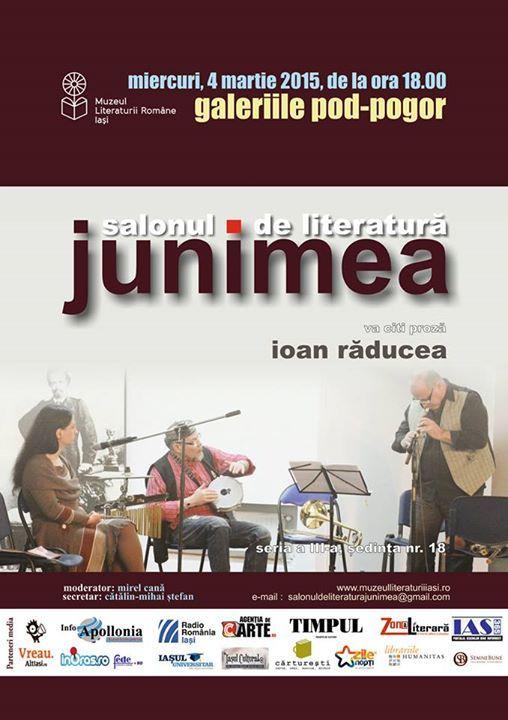 Salonul de literatură Junimea, 4 martie 2015