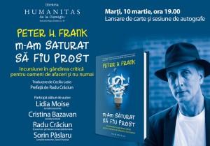 Peter H. Frank, lansare de carte și sesiune de autografe