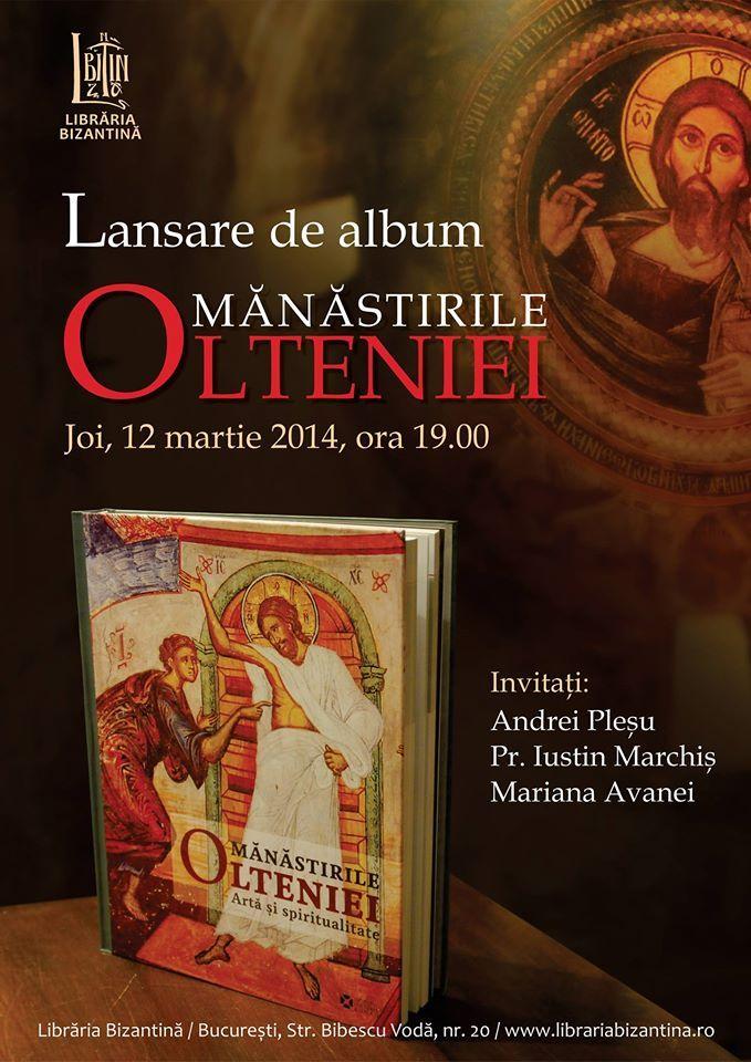 """Lansare de album """"Mănăstirile Olteniei"""""""
