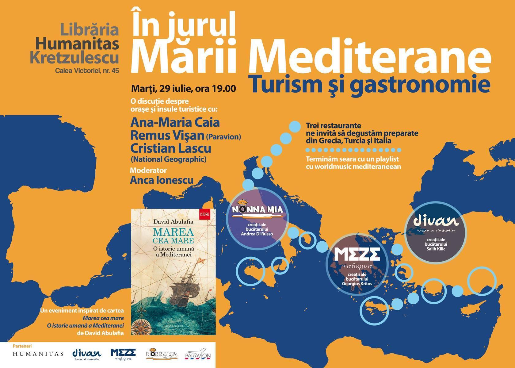 În jurul Mării Mediterane, turism şi gastronomie
