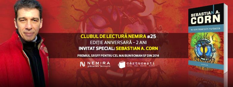 Ediție aniversară a Clubului de lectură Nemira: invitat Sebastian A. Corn