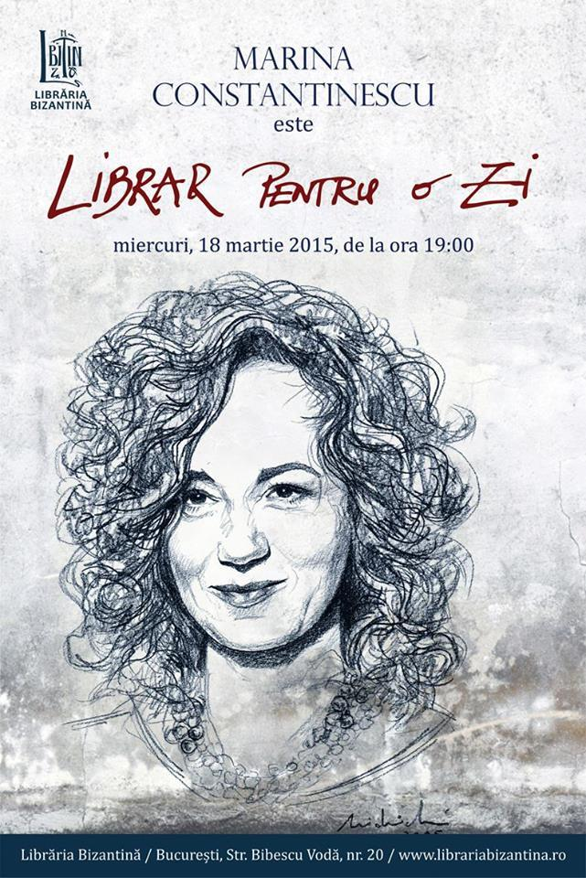 Librar pentru o zi, ediția nr. 13, invitată: Marina Constantinescu