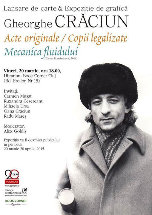 Lansarea Seriei de autor și vernisajul expoziției dedicate lui Gheorghe Crăciun la Cluj