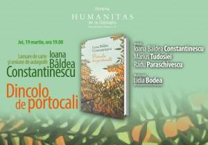 "Lansare ""Dincolo de portocali"" la Librăria Humanitas de la Cișmigiu"