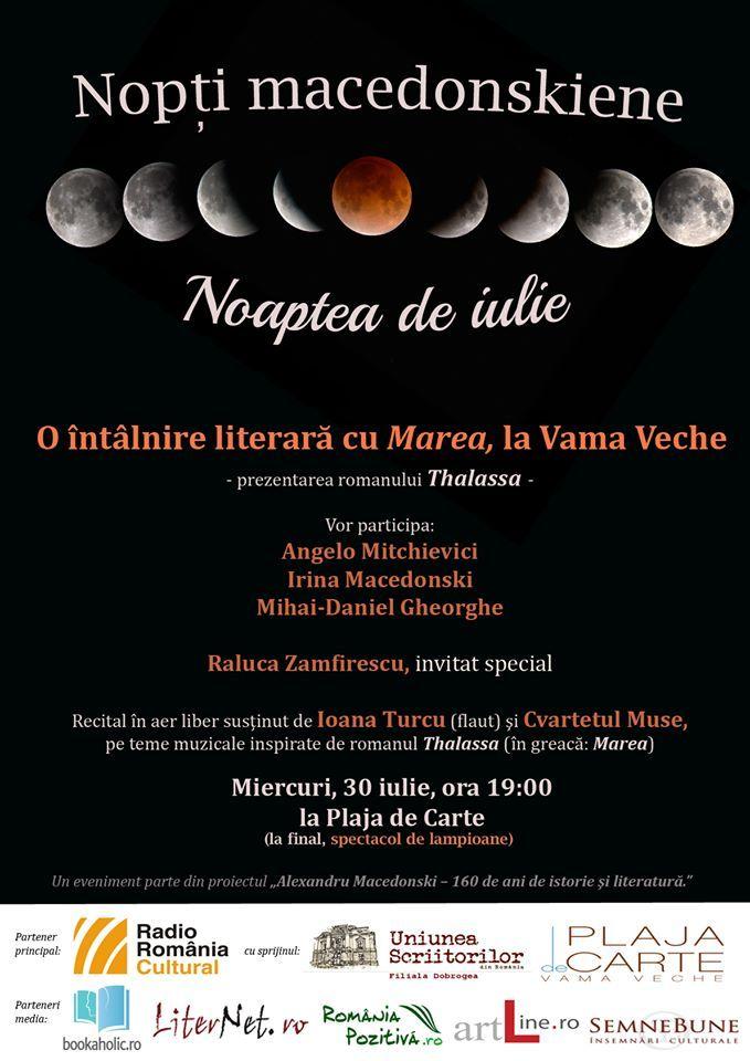 Noaptea de iulie: o întâlnire literară cu Marea, la Vama Veche