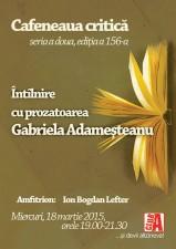Întâlnire cu Gabriela Adameșteanu la Cafeneaua Critică