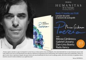 Lansarea integralei poetice Mircea Cărtărescu
