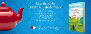 """Club de lectură Litera și Joie de Vivre, """"Incredibilul pelerinaj al lui Harold Fry"""", de Rachel Joyce"""