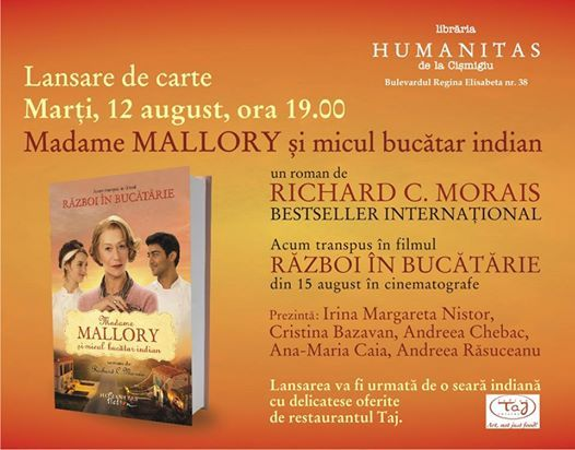 """""""Madame Mallory şi micul bucătar indian"""", lansat la Humanitas Cişmigiu"""