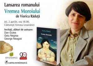 """Lansarea romanului """"Vremea Moroiului"""", de Viorica Răduță"""