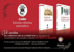 """Lansarea colecției """"Istorie cu blazon"""""""