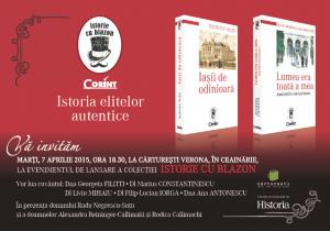 """Editura Corint lansează colecția """"Istorie cu Blazon"""""""