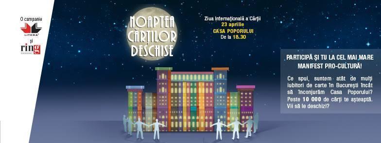 Editura Litera organizează Noaptea Cărților Deschise 2015