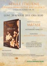 "Seara italiană și dezbatere: Alessandro Baricco, ""Mătase"""