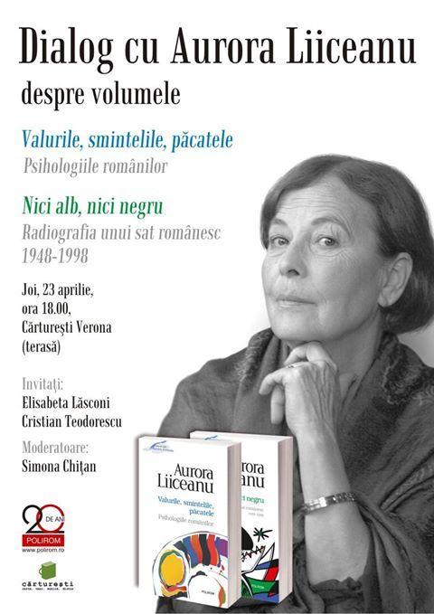 Dialog cu Aurora Liiceanu la Cărturești Verona