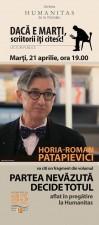 Horia-Roman Patapievici, lectură în premieră