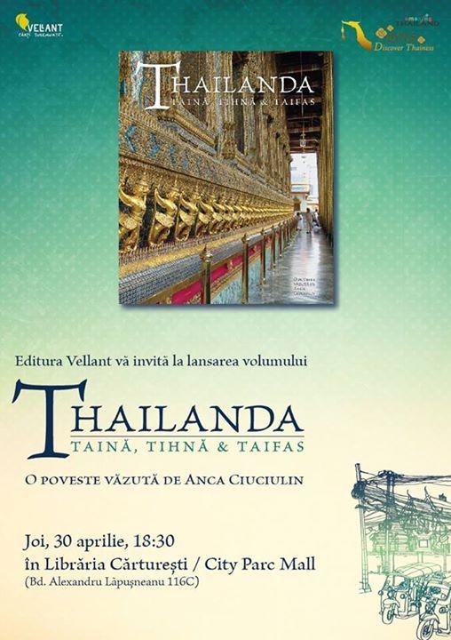 """Lansare """"Thailanda"""" la Cărturești Constanța"""