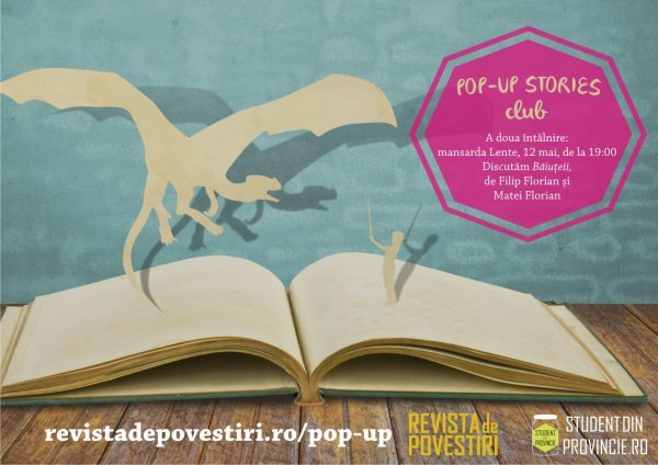 """Băiuţeii"": cartea discutată la Pop-up Stories Club cu fraţii de la Robin and the Backstabbers"