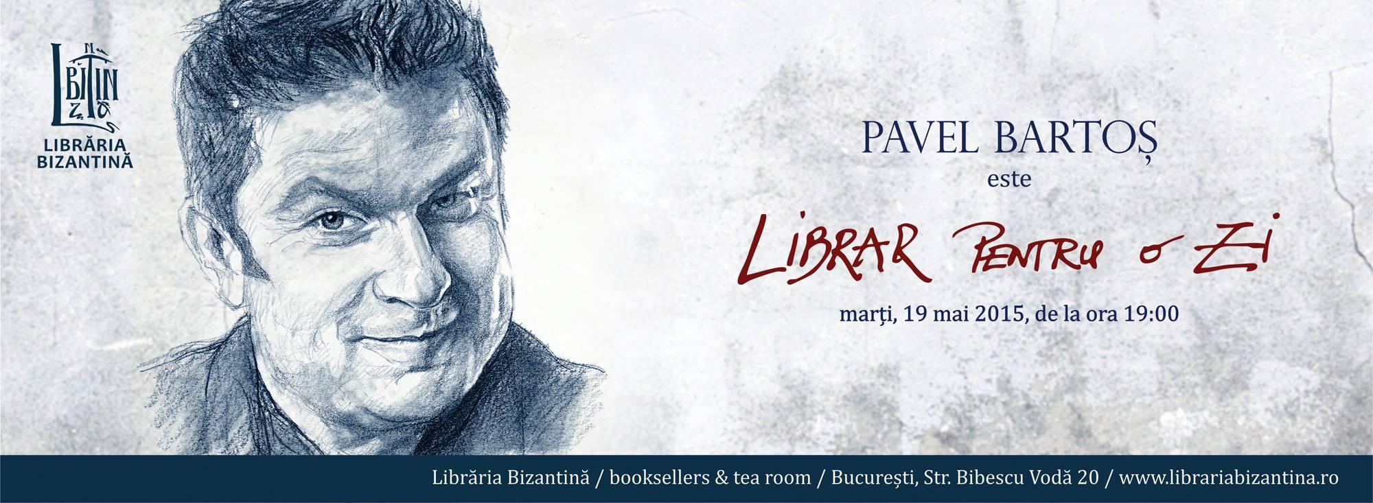 Librar pentru o zi este Pavel Bartoș