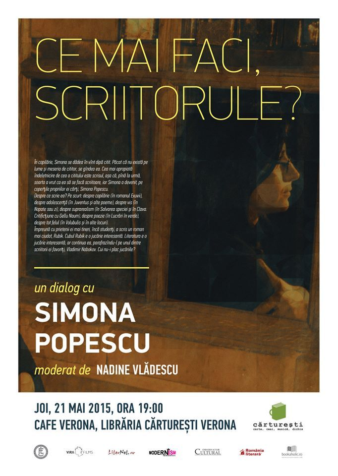 "Simona Popescu la ""Ce mai faci, scriitorule?"""