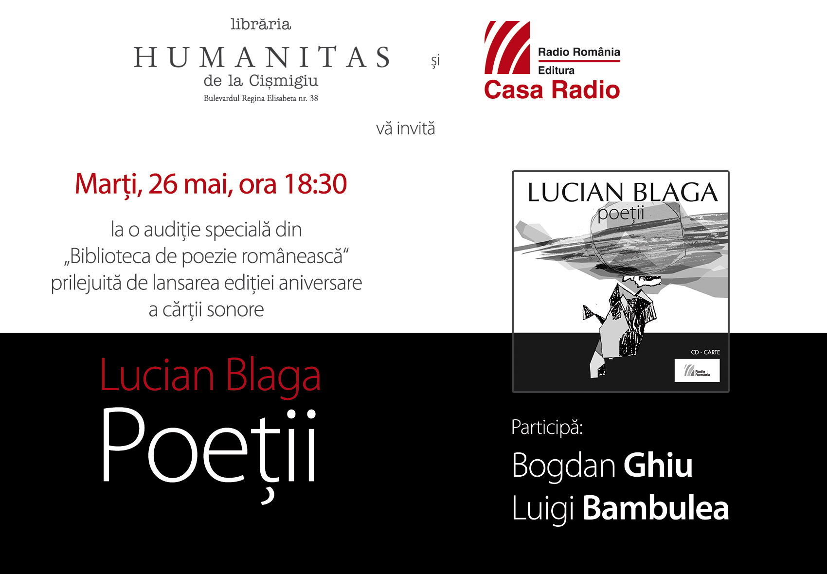 Lucian Blaga și cercul poeților dispăruți: O audiție specială oferită de Editura Casa Radio