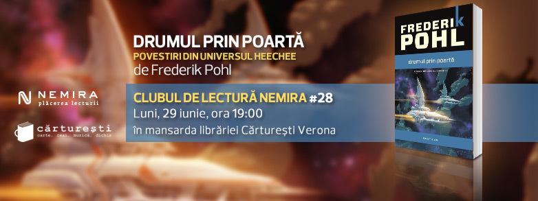 """Clubul de lectură Nemira nr. 28 - """"Drumul prin poartă"""", de Frederik Pohl"""