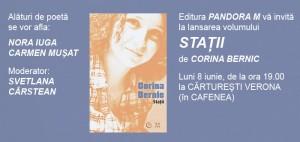 """Lansarea volumului """"Stații"""", de Corina Bernic"""