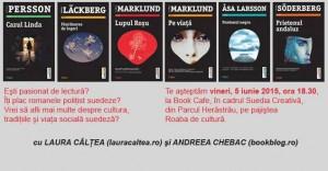 """Book Café cu romane polițiste la """"Suedia creativă"""""""
