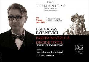 """Lansare și sesiune de autografe: Horia-Roman Patapievici, """"Partea nevăzută decide totul"""""""