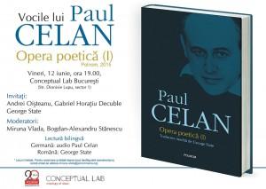 Vocile lui Paul Celan la Conceptual Lab București