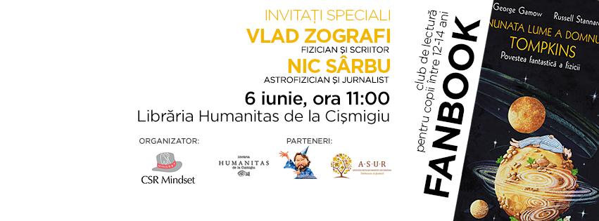 Fanbook, club de lectură pentru copii - Vlad Zografi si Nic Sârbu, invitați speciali