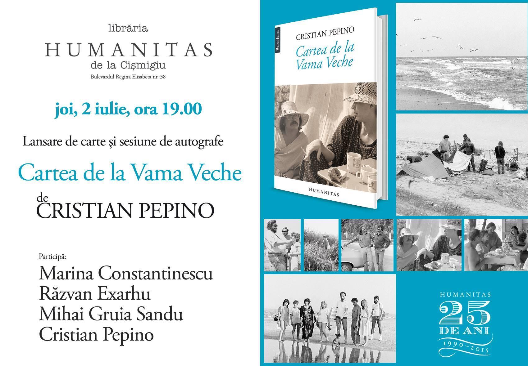 """Lansare """"Cartea de la Vama Veche"""", de Cristian Pepino"""