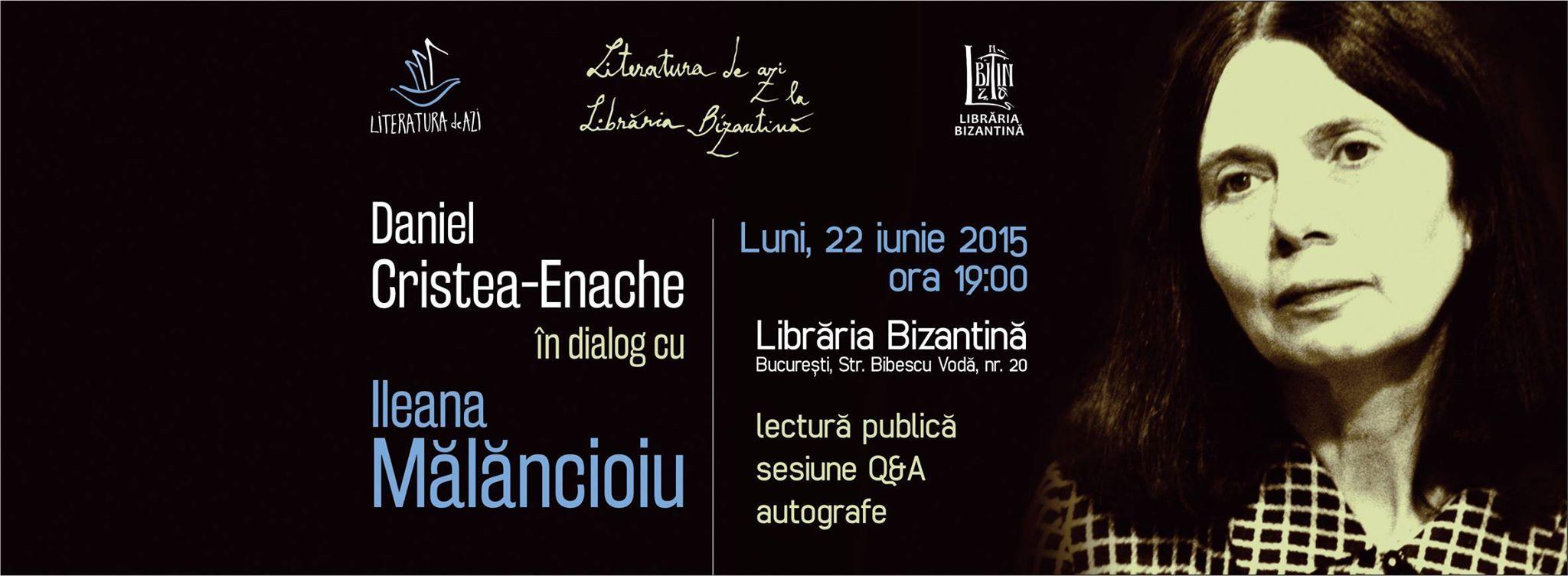 Literatura de azi, invitată Ileana Mălăncioiu