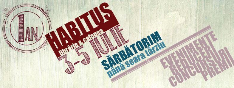 Librăria Habitus sărbătorește un an