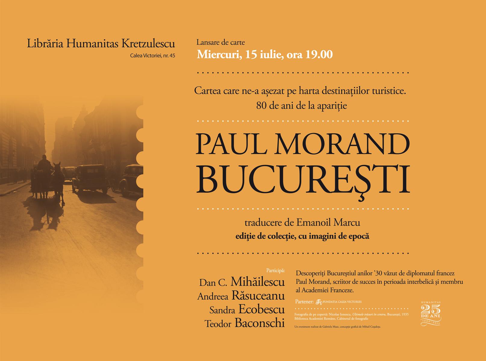 Bucureștiul interbelic văzut de Paul Morand