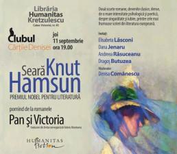 """Clubul Cărțile Denisei - """"Pan. Victoria"""", de Knut Hamsun"""