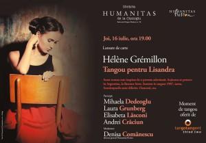 """""""Tangou pentru Lisandra"""" un nou roman de Hélène Grémillon la Humanitas Fiction"""