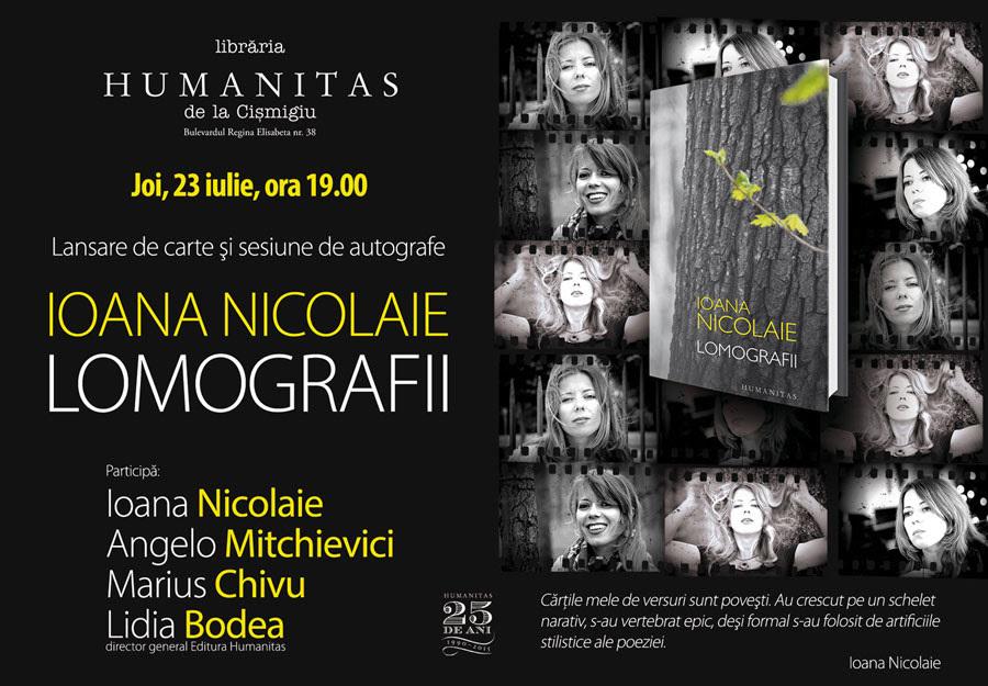 "Lansare Ioana Nicolaie, ""Lomografii"""