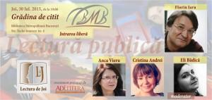 Lectura de joi cu Florin Iaru, Anca Vieru și Cristina Andrei