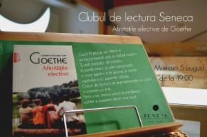 """Clubul de lectură Seneca, """"Afinitățile elective"""", de J.W. Goethe"""