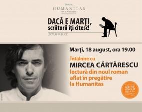 Mircea Cărtărescu citeşte din noul său roman